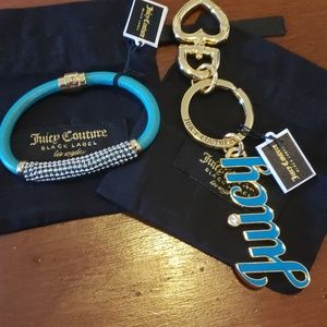 Juicy Couture bracelet & keychain